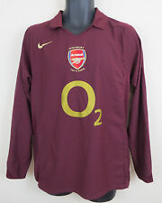 Nike Arsenal Football Highbury 2005-06 Long Sleeve Shirt Soccer Jersey Medium M