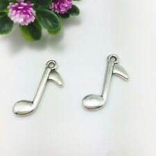 12Pcs NEW Jewelry Findings Tibetan Silver musical note Charms Pendants 23x14mm