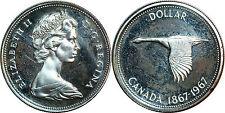 CANADA 1 DOLLAR ARGENT SILVER 1967 KM# 70