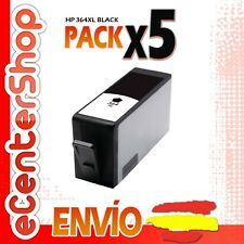 5 Cartuchos de Tinta Negra NON-OEM HP 364XL - Photosmart Wireless B109 n