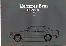 1984 Mercedes 190 / 190 E Sales Catalog / In German