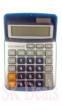 8digit electrónico Solar gran botón de apagado automático Calculadora Plata