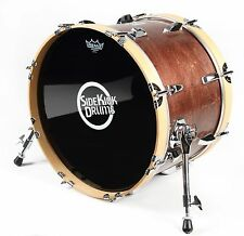 "Small Travel Bass Drum 12"" x 18"" Red Mahogany Finish - by Side Kick Drums"