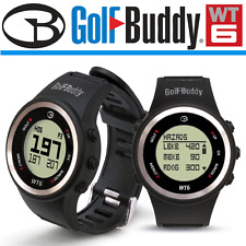"""NEW 2017"" GOLFBUDDY WT6 PRELOADED FRONT CENTRE BACK + HAZARDS GOLF GPS WATCH"