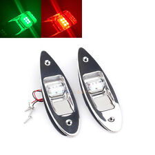 Marine Boat LED Side Navigation Light Red Green Recessed Flush Mount Side Lights