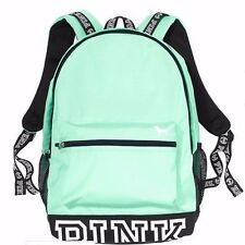 Victoria's Secret PINK Campus Backpack Seafoam Glow Black Bling Bookbag