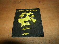 """JIMI HENDRIX FACE OUTLINE LOGO JACKET HAT TEE SHIRT PATCH NEW YELLOW / BLACK 5"""""""