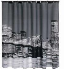 New York City At Night Shower Curtain 180cm x 180cm Polyester With Hooks