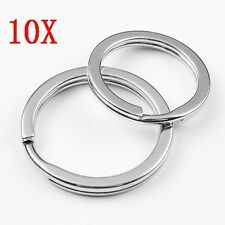 10*32mm Stainless Steel Hoop Split Key Ring Chain Loop Keyrings Connectors HK