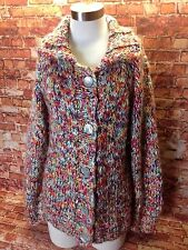 Women's CHICO'S Multi Color Button Front Knit Cardigan Sweater Size 1