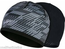 Brand New Men's Nike Run Hazard Running Knit Hat Black/Dark Grey/Reflective