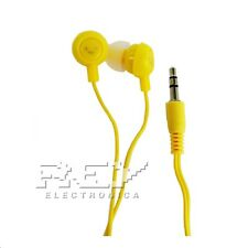 Auriculares FRUIT SMILES Headphone Universal 3.5mm Frutas Sonrisas AMARILLO s163