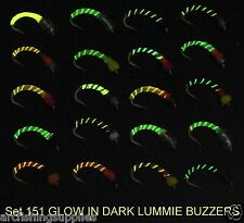 GLOW EPOXY BUZZERS trout fly fishing flies S151-14 for use with rod reel line