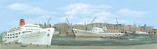 """PECO SK-20 Large Dock Centre Scenic Background 228mm x 737mm (9""""x29"""") T48 Post"""