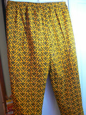 """STORMY WEATHER PANTS-WAIST SIZE 28""""-42""""-YELLOW & BLUE-FULLY LINED-ZIPPERED LEGS"""
