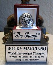ROCKY MARCIANO Boxing Heavyweight Champion HOF Ring & Custom Display un signed