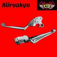 Kuryakyn Chrome Boss Blades W/ Adjustable Clutch Lever for 96-07' Touring 1080