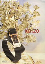 Publicité Advertising 2009  montre KENZO collection mode bijoux