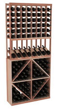 Wooden High Reveal Diamond Bin Combo Wine Cellar Rack Kit in Redwood. USA Made.