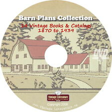 Vintage Barn Plans and farm Buildings Collection on DVD