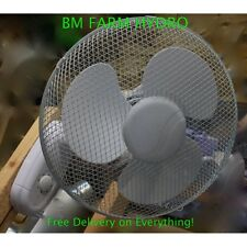 "16"" Wall Mounted Oscillating Fan Grow Tent Ventilation Hydroponics Cooling Plant"