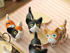 Lovely Cat Keyrings Chain Kawaii Adorable Bag Pendant Toy Lovers Kids Key Chains