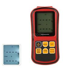 Digital Thermometer Dual Channel Input Thermocouple K J T E R S N C/F Type US