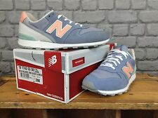 NEW BALANCE LADIES 996 UK 6 EU 39 BLUE PEACH SUEDE TRAINERS RRP £70