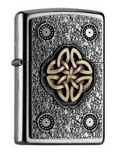 "ZIPPO 2016 CATALOG ""CELTIC KNOT"" STREET CHROME LIGHTER / 2004750 * NEW in BOX *"