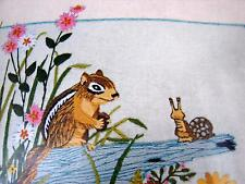 Paragon Crewel Stitchery Kit 0244 Friends in the Forest Chipmunk Snail Butterfly