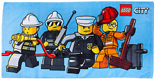 LEGO CITY HEROES KIDS BEACH BATH TOWEL 100% OFFICIAL