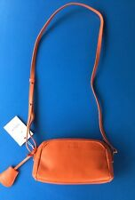 STUNNING KIPLING NEW ABELA LEATHER SPICY ORANGE CROSS BODY BAG ~ NEW