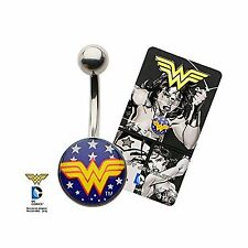 DC Wonder Woman Logo Belly Button Ring Sexy Accessories Gift