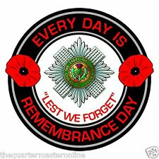 Scots Guards Remembrance Day Inside Car Window Clear Cling Sticker