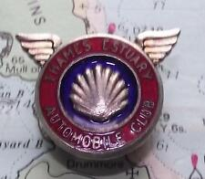 Vintage  Chrome Enamel Car Lapel Badge : Shell  Thames Estuary Automobile Club
