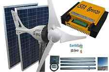 Set viento generador i-500 plus 24v, + solar 200w, regulador de carga + Tower, ista Breeze ®