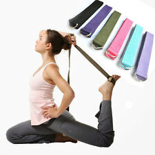 Pilates Leg Stretch Good 180cm Strap Belt Yoga Fitness D-Ring Waist Adjustable