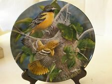Knowles Baltimore Oriole Bird Kevin Daniel Plate Garden Collection Limited 1985