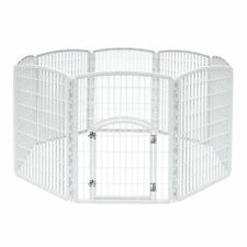 Dog Playpen Puppy Exercise Fence Indoor Outdoor Outside Kennel Plastic Pet Pen