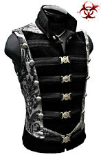 SHRINE DOMINION MILITARY STEAMPUNK GOTHIC GOTH ARMY PIRAT ROCKER JACKET VEST XL