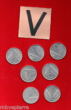 lotto 10 lire 7 monete ITALIAN COIN 1955 1973 1977 1979 1980 1981 1982 vendo