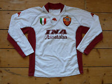 AS ROMA football SHIRT XXL (tight) 2001/02 kappa Italia SOCCER JERSEY Away Kit