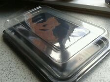 3 x large  buffet/partyfood sandwich trays with see through lids.