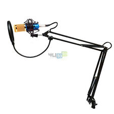 Blue Professional Condenser Microphone + Mic Suspension Arm Stand + Pop Filter