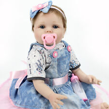22'' Handmade Lifelike Baby Girl Doll Soft Vinyl Reborn Newborn Dolls+Clothes