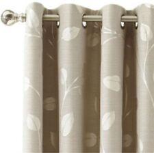 *MarthaWindow Hampton Leaf Grommet-Top Curtain Panel 50Wx72L Sullivan Khaki NEW