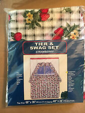 Brand New! Strawberry Tier and Swag Set 70% Polyester / 30% Cotton