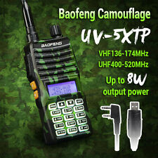 Baofeng UV-5XTP Camouflage Dual Band Tri-Power 1/4/8W Ham Two-Way Radio 8W 128CH