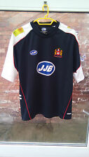 WIGAN WARRIORS RUGBY CLUB JJB BLUE, WHITE & RED RUGBY SHIRT SIZE X-LARGE VGC