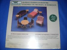 10-PIECE FASHION FURNITURE KIT by Greenleaf, 1:6 scale, #8920 - NIB